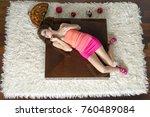 top view to lying down women | Shutterstock . vector #760489084
