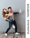 full length portrait of an... | Shutterstock . vector #760489258