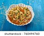 mama mia's minestrone  soup  ...   Shutterstock . vector #760494760