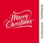 merry christmas text | Shutterstock .eps vector #760496656