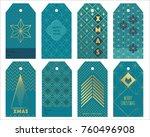blue art deco gift tags for...   Shutterstock .eps vector #760496908