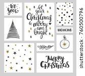 christmas lettering  patterns... | Shutterstock .eps vector #760500796