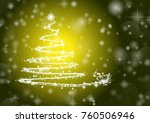 abstract christmas tree on...   Shutterstock .eps vector #760506946