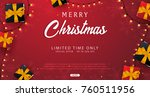 marry christmas and happy new... | Shutterstock .eps vector #760511956