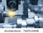 the cnc lathe machine or... | Shutterstock . vector #760513408