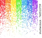 fading colorful rainbow pixel... | Shutterstock .eps vector #760513759