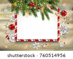 winter nature background with... | Shutterstock .eps vector #760514956