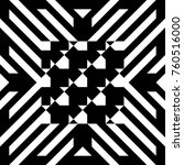 abstract tile with black white... | Shutterstock .eps vector #760516000