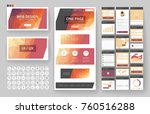 website template  one page... | Shutterstock .eps vector #760516288