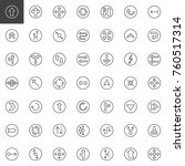 universal arrows line icons set ...