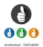 thumb up vector icon. style is... | Shutterstock .eps vector #760518604