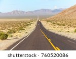 lonely highway in the desert of ... | Shutterstock . vector #760520086