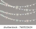 christmas lights isolated on... | Shutterstock .eps vector #760522624