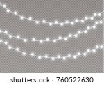christmas lights isolated on... | Shutterstock .eps vector #760522630