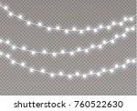 christmas lights isolated on... | Shutterstock .eps vector #760522630