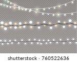 christmas lights isolated on... | Shutterstock .eps vector #760522636