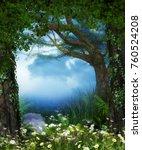 3d rendering of a enchanting... | Shutterstock . vector #760524208