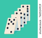 falling dominoes. concept of... | Shutterstock .eps vector #760524919