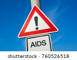 aids   traffic sign with