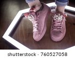 fashion sneakers. lighting... | Shutterstock . vector #760527058