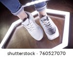 fashion sneakers. lighting... | Shutterstock . vector #760527070