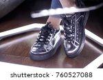 fashion sneakers. lighting... | Shutterstock . vector #760527088
