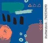 vector abstract backgrount with ... | Shutterstock .eps vector #760534090