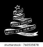 christmas tree in the form of a ... | Shutterstock . vector #760535878