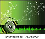 abstract green musical notes ... | Shutterstock .eps vector #76053934