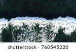 Aerial Top Down Photo Ocean...