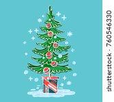 sketch vector symbol christmas... | Shutterstock .eps vector #760546330