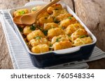 american food  tater tots with... | Shutterstock . vector #760548334