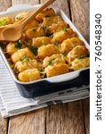 homemade baked tater tots with... | Shutterstock . vector #760548340