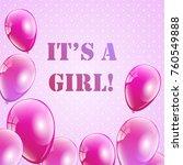 baby shower invitation for... | Shutterstock .eps vector #760549888
