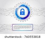 futuristic circuit board on the ... | Shutterstock .eps vector #760553818