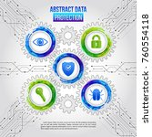 abstract safety mechanism which ...   Shutterstock .eps vector #760554118