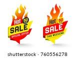hot sale price offer deal... | Shutterstock .eps vector #760556278