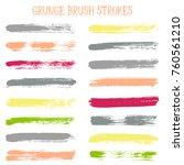 modern watercolor daubs set ... | Shutterstock .eps vector #760561210