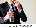 cropped shot of asian sick or... | Shutterstock . vector #760561909