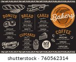 bakery dessert menu for... | Shutterstock .eps vector #760562314