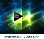 color neon glowing triangles ... | Shutterstock .eps vector #760565644
