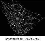 illustration with white spider... | Shutterstock .eps vector #76056751