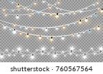 christmas lights isolated on... | Shutterstock .eps vector #760567564