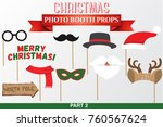 merry christmas photo booth...   Shutterstock .eps vector #760567624