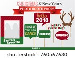 merry christmas and new years... | Shutterstock .eps vector #760567630