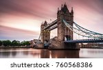 tower bridge london during... | Shutterstock . vector #760568386