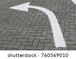 arrow sign on street  go... | Shutterstock . vector #760569010