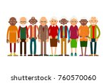 group older people. aged people ... | Shutterstock .eps vector #760570060