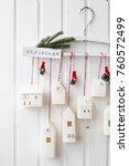 christmas  advent calendar   Shutterstock . vector #760572499