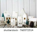 christmas  advent calendar | Shutterstock . vector #760572514